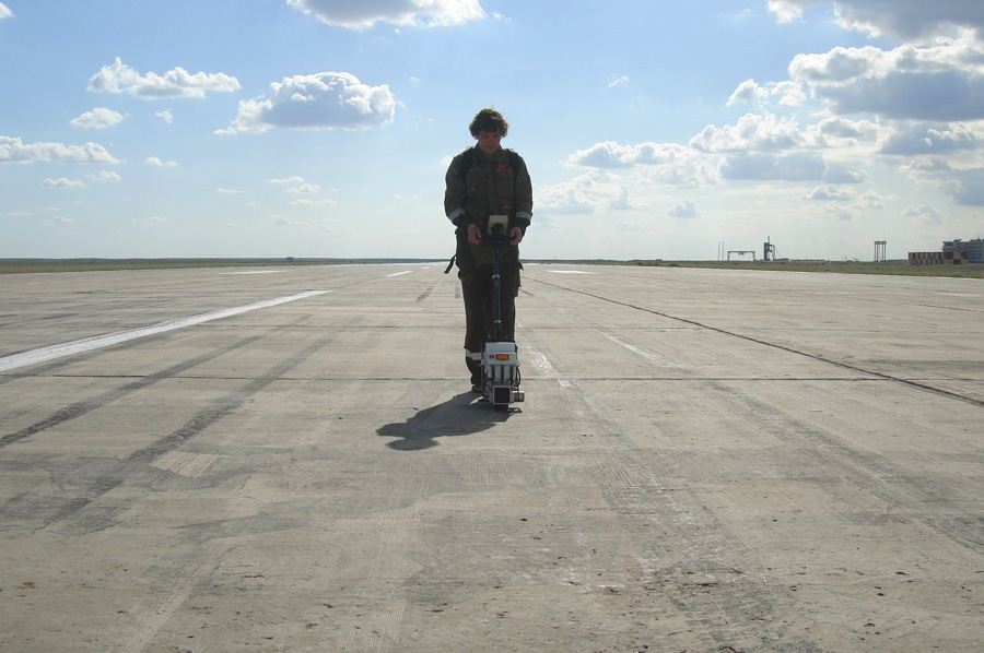 Measuring the runway pavement roughness by multipurpose surface profiler SurPRO 3500