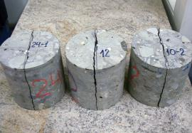 Tested concrete specimens